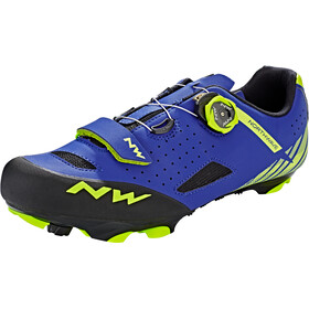 Northwave Origin Plus kengät Miehet, blue/yellow fluo